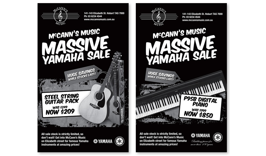 McCanns Music Press Adverts